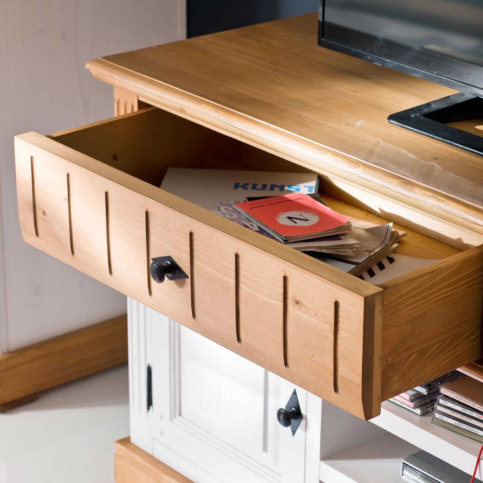 schreibtisch alby wei natur massiv landhausstil. Black Bedroom Furniture Sets. Home Design Ideas