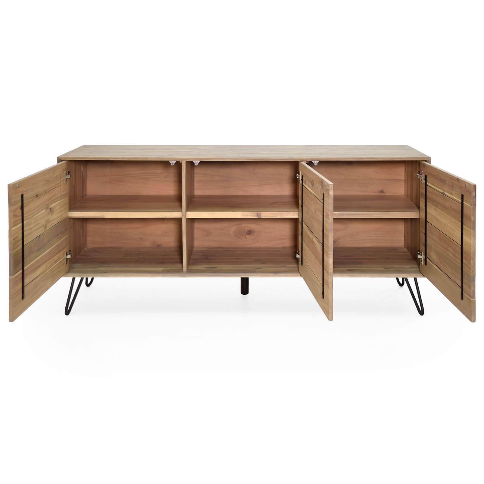 anrichte dalby akazie massiv 180cm breit. Black Bedroom Furniture Sets. Home Design Ideas