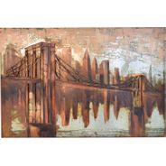 3D Metallbild Brooklyn Bridge Wandbild 120 x 80 cm – Bild 2