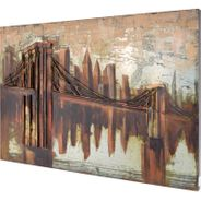 3D Metallbild Brooklyn Bridge Wandbild 120 x 80 cm 001