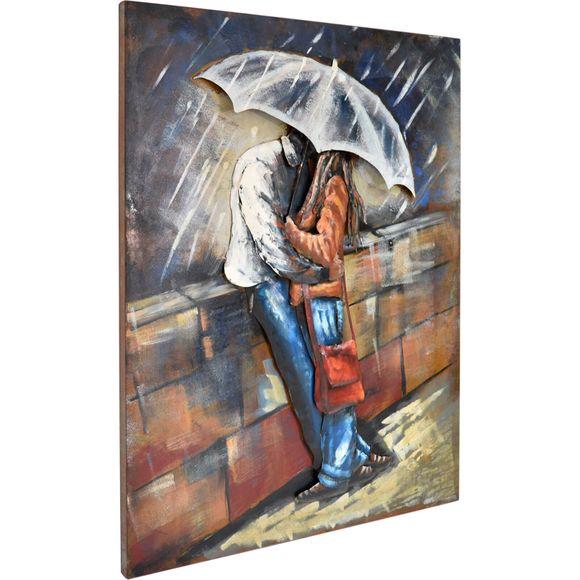 3D Metallbild  Love Rain Wandbild 75 x 100 cm – Bild 3