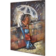 3D Metallbild  Love Rain Wandbild 75 x 100 cm – Bild 1