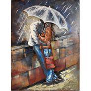3D Metallbild  Love Rain Wandbild 75 x 100 cm – Bild 2