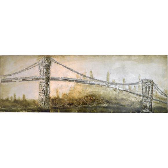 3D Bild Brooklyn Bridge Wandbild 160 x 55 cm – Bild 2