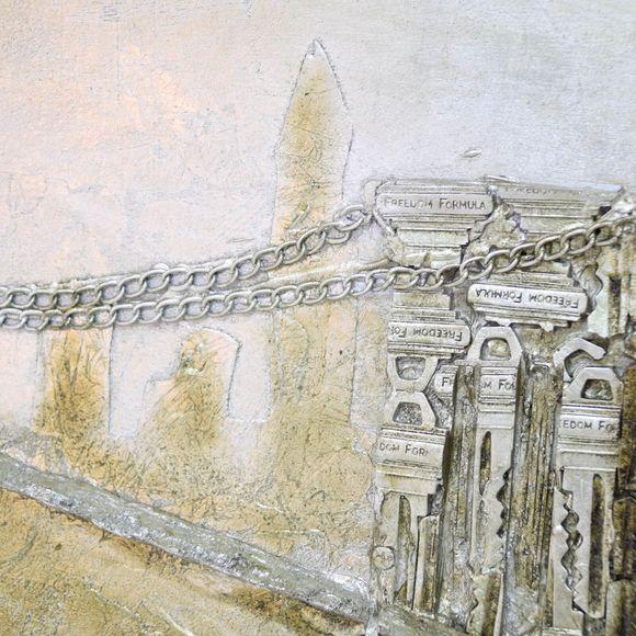 3D Bild Brooklyn Bridge Wandbild 160 x 55 cm – Bild 4