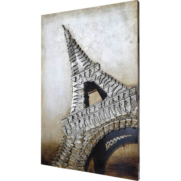 3D Wandbild Eiffelturm 80 x 120 cm – Bild 1