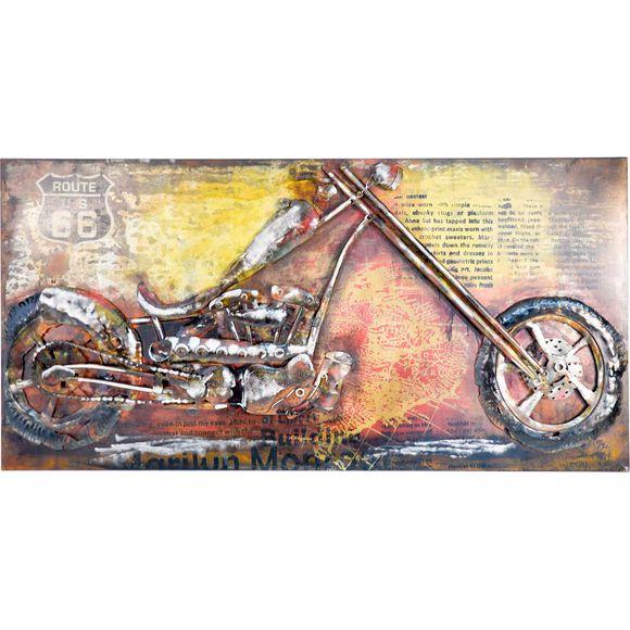 3D Metallbild Motorrad Wandbild 140 x 70 cm – Bild 2