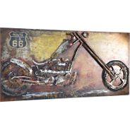 3D Metallbild Motorrad Wandbild 140 x 70 cm – Bild 4