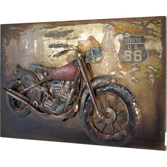 3D Metallbild Motorrad Wandbild 60 x 40 cm – Bild 1
