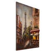 3D Metallbild Paris Wandbild 80 x 120 cm – Bild 3