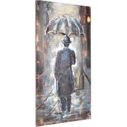 3D Metallbild Mann im Regen Wandbild 60 x 120 cm – Bild 3