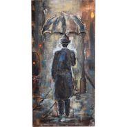 3D Metallbild Mann im Regen Wandbild 60 x 120 cm – Bild 2