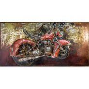 3D Metallbild Chopper Wandbild 140 x 70 cm – Bild 2