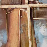 3D Metallbild Mühle Wandbild 100 x 100 cm – Bild 3