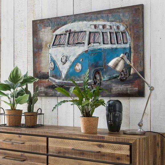 3D Metallbild Bulli Wandbild 120 x 80 cm – Bild 2