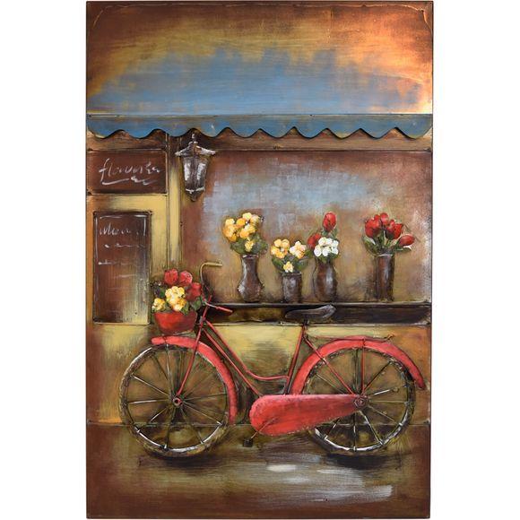 3D Metallbild Fahrrad Wandbild 80 x 120 cm – Bild 2