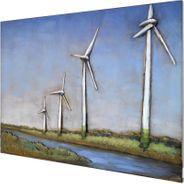 3D Metallbild Windmühle Wandbild 100 x 75 cm – Bild 1