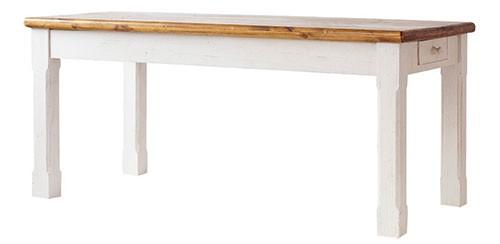 Esstisch Bodde 180 x 90 cm in Kiefer Massivholz Weiß / Honig – Bild 4