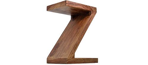 Z Form Beistelltisch Sheesham Massivholz
