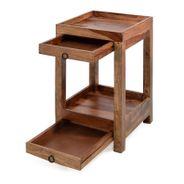 Telefontisch 40 x 40 x 65 cm aus Sheesham Massivholz – Bild 3