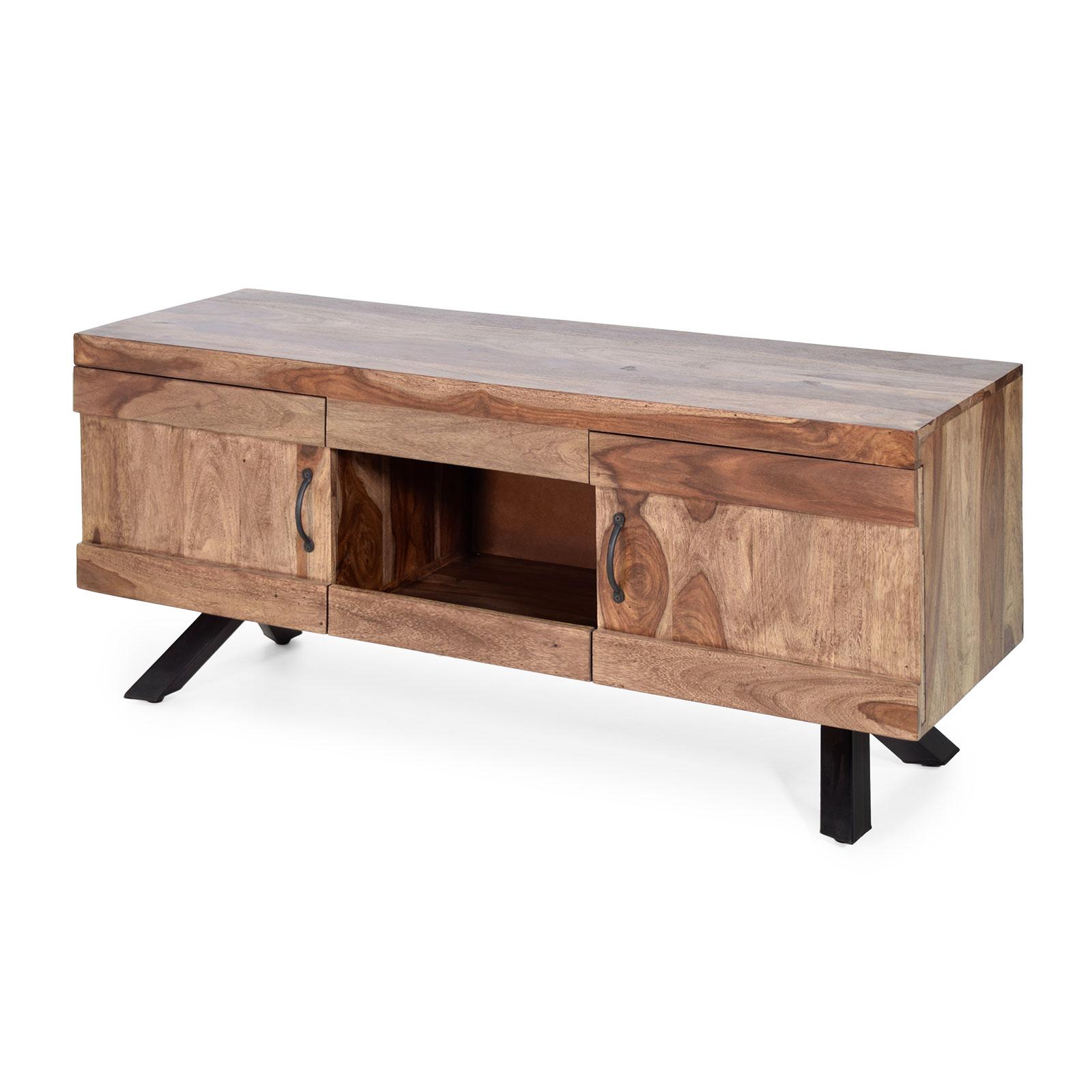 Lowboard 135 x 43 x 58 cm Sheesham Massivholz