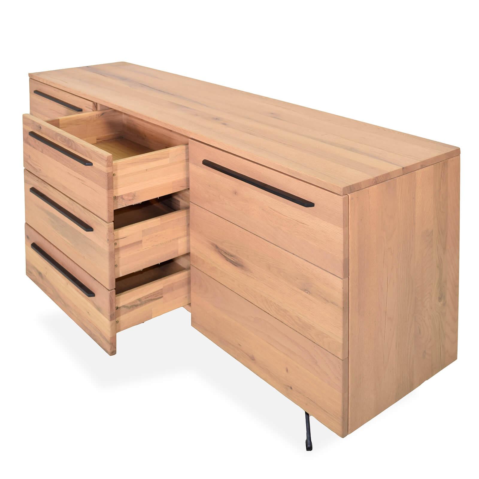 sideboard kito eiche massiv natur ge lt 165 cm. Black Bedroom Furniture Sets. Home Design Ideas