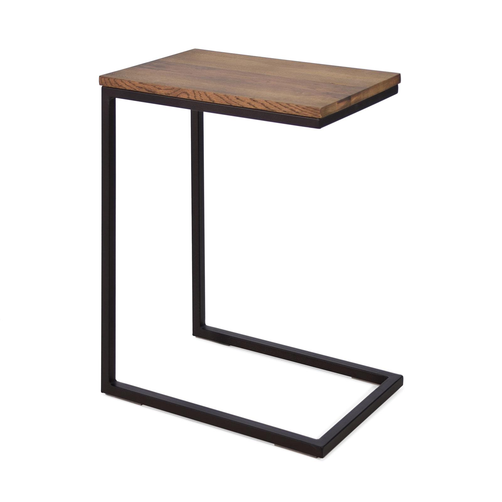 beistelltisch sofa cube aus metall und eiche in braun oder. Black Bedroom Furniture Sets. Home Design Ideas