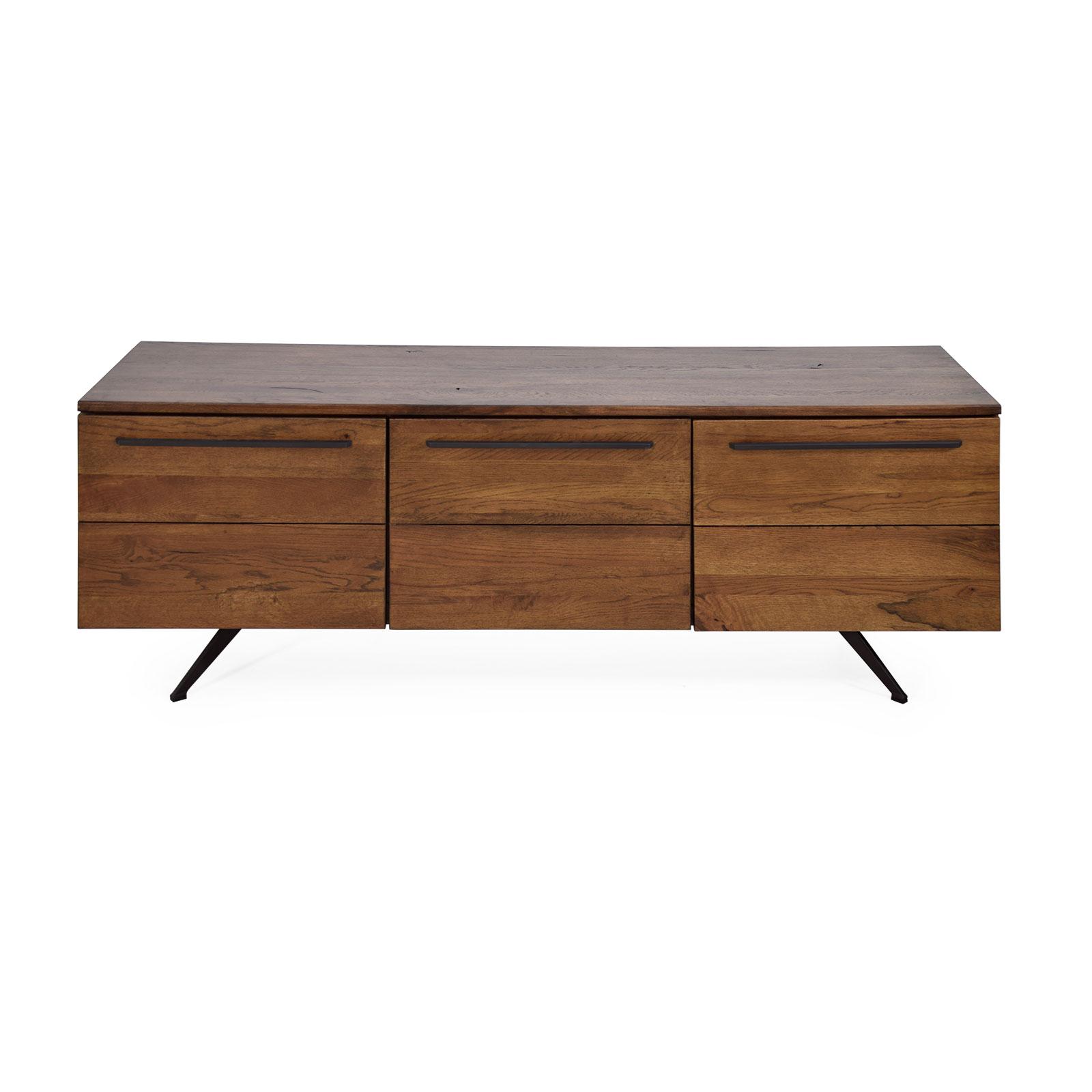 lowboard eiche massiv natur ge lt 160 cm tv board fernsehkommde wildeiche massiv ebay
