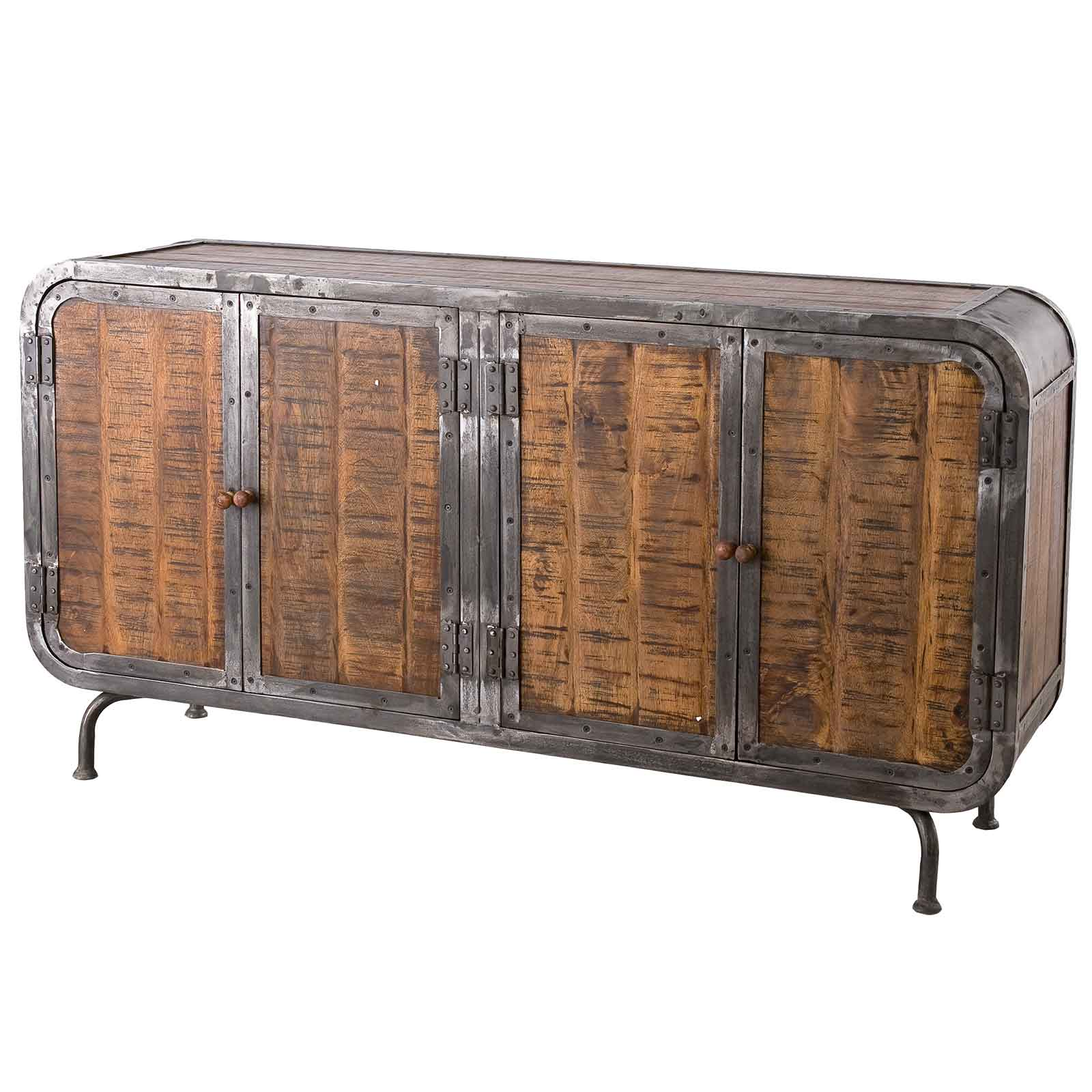 sideboard saigon aus massivholz und metall 160 x 85 cm. Black Bedroom Furniture Sets. Home Design Ideas