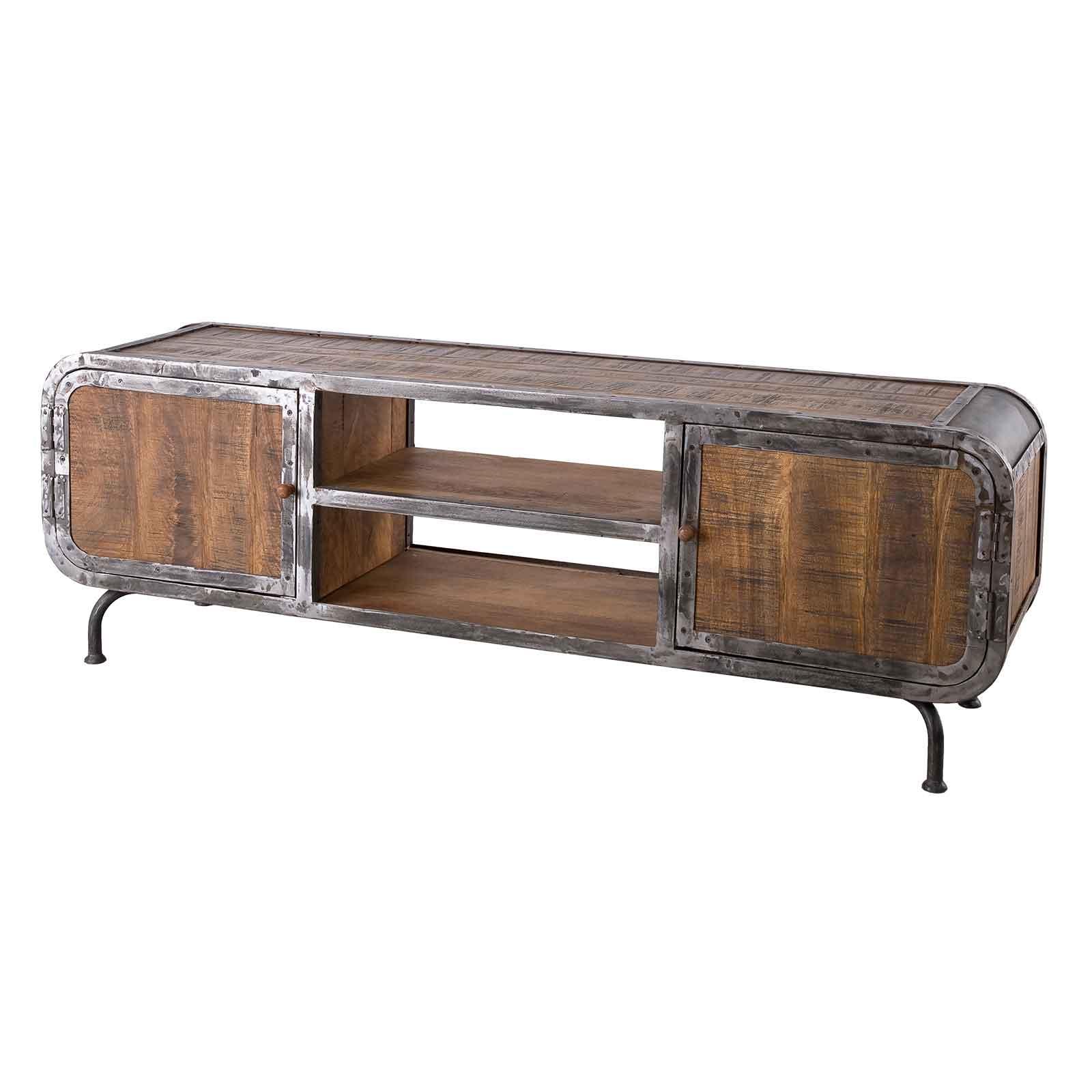 Lowboard Saigon aus Mangoholz und Metall 180 x 60 cm