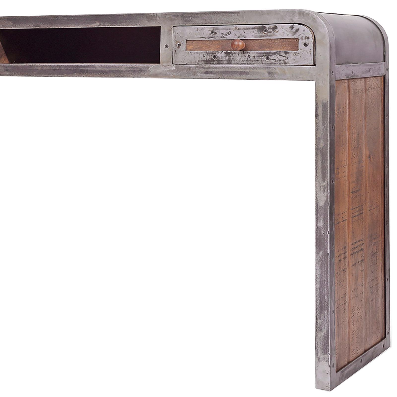 konsole saigon aus mangoholz und metall 120 x 80 cm. Black Bedroom Furniture Sets. Home Design Ideas