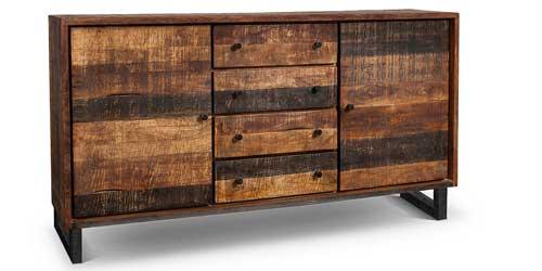 Sideboard Kumasi aus Massivholz Braun 160 x 85 cm
