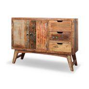 Sideboard Malm aus recyceltem Massivholz 115 x 85 cm Bunt – Bild 1