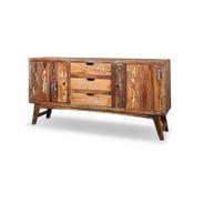 Sideboard Malm aus recyceltem Massivholz 160 x 85 cm Bunt – Bild 1