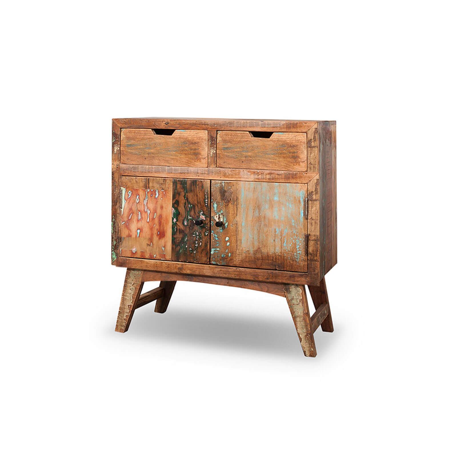 Kommode Malm aus recyceltem Massivholz 80 x 85 cm Bunt