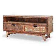 TV Lowboard Malm aus recyceltem Massivholz 115 x 55 cm Bunt – Bild 1
