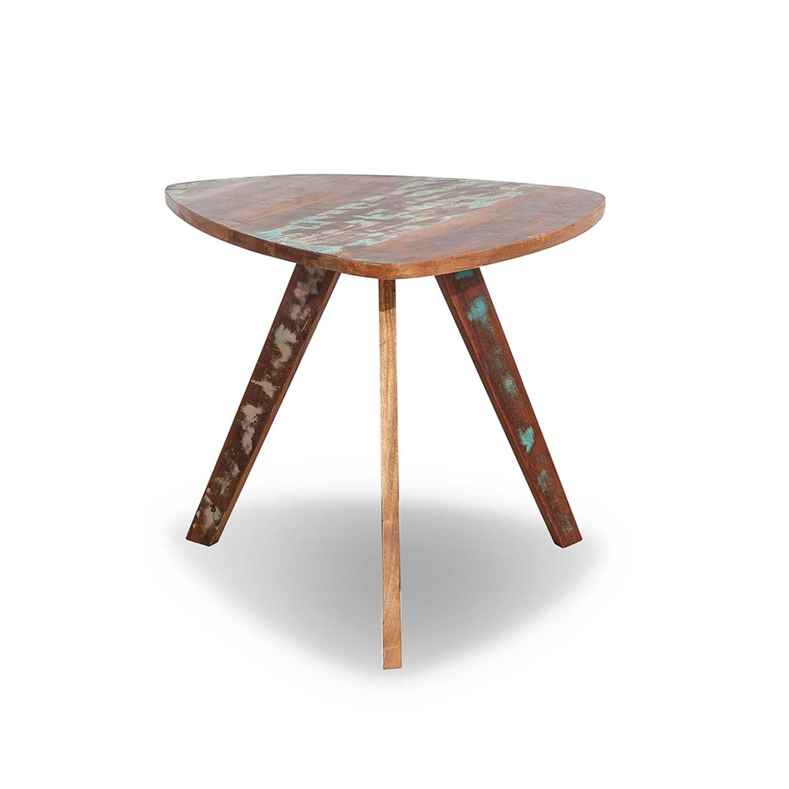 Beistelltisch Malm aus recyceltem Massivholz 60 x 65 cm Bunt