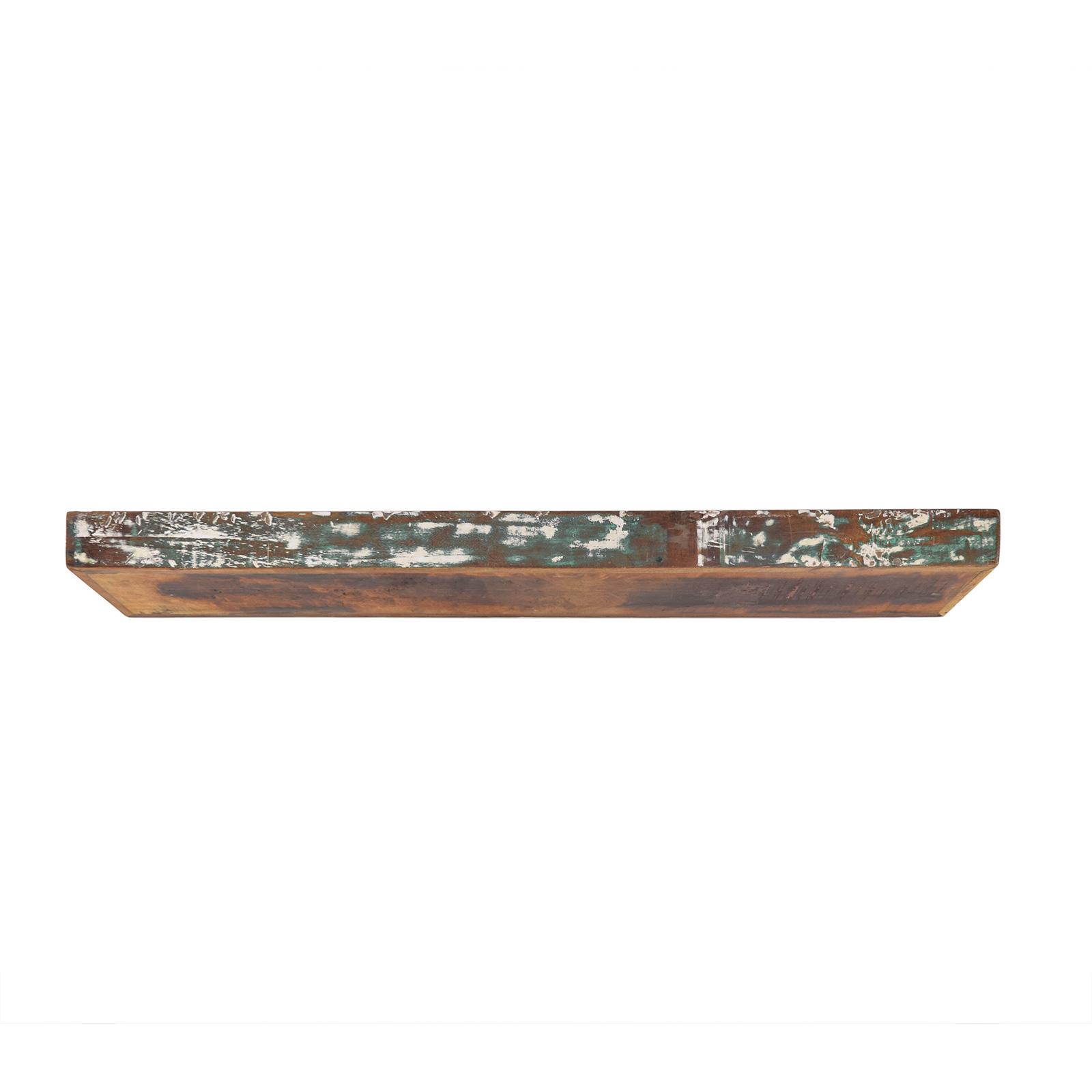 Wandregal Malm aus recyceltem Massivholz 120cm Breit