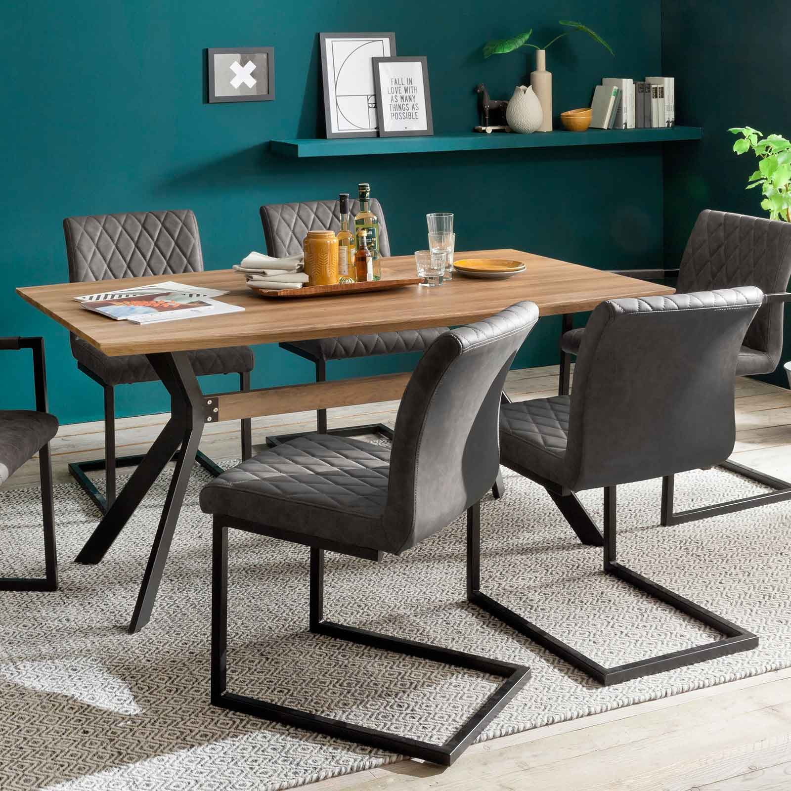 freischwinger kina i schwingstuhl in grau 4er set. Black Bedroom Furniture Sets. Home Design Ideas