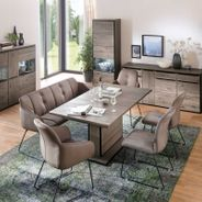 Sitzbank Tessera Braun mit Kufengestell Anthrazit – Bild 4