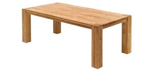Esstisch aus Eiche Massivholz geölt B180 x T90 cm