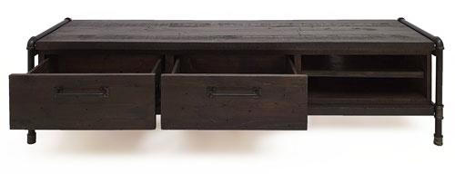 Lowboard Boro aus Massivholz 160cm Breit