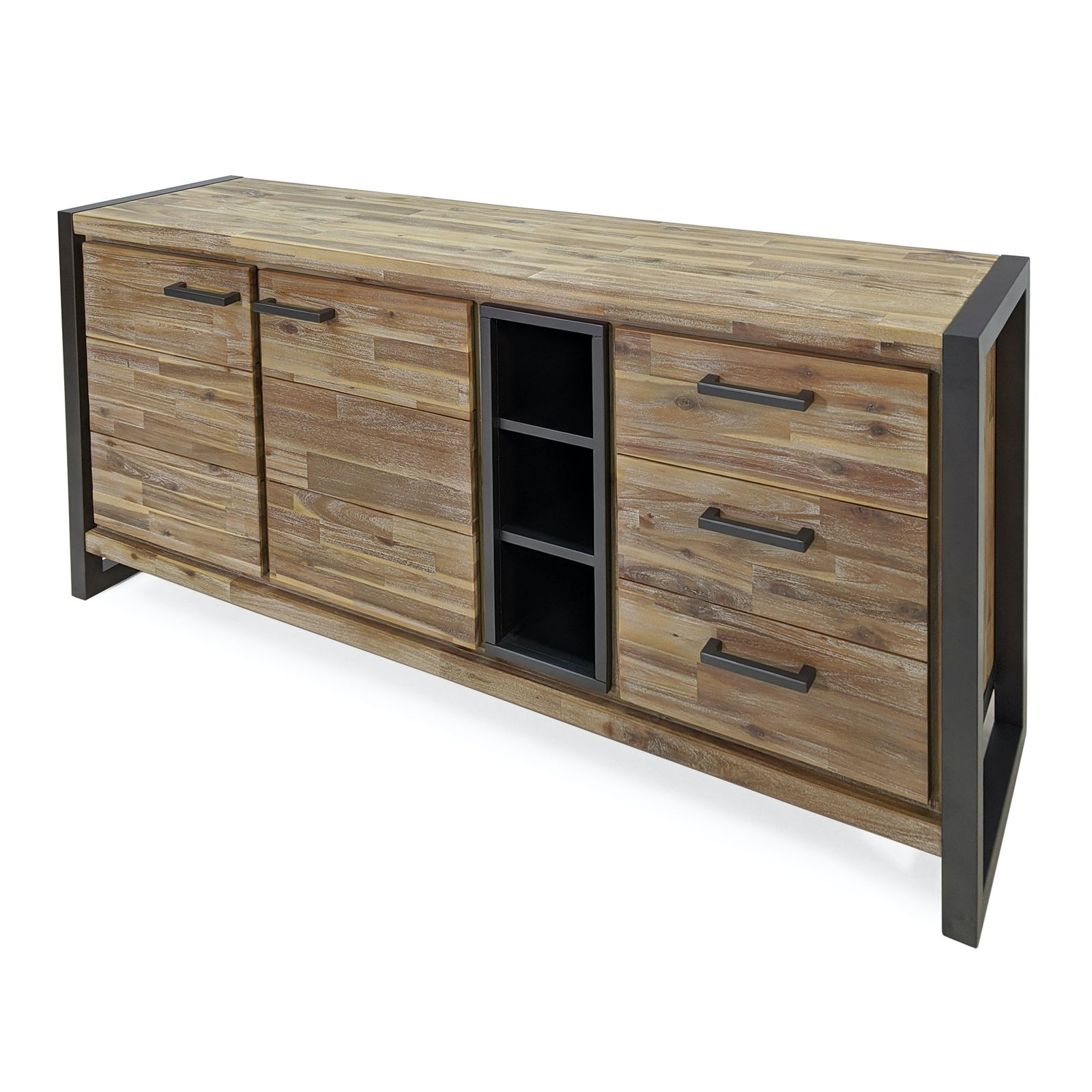 Sideboard Oli in Braun / Grau 160 x 80 cm