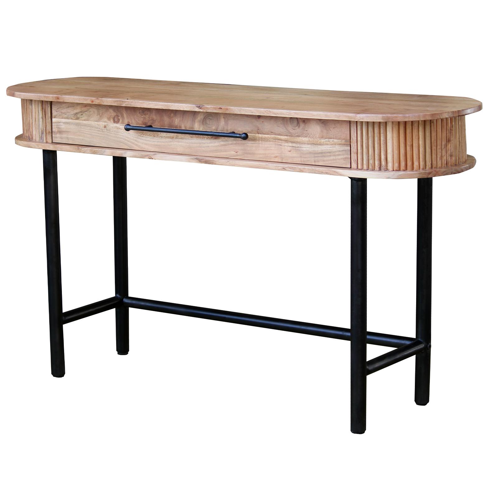 Konsolentisch Runda aus Akazie Massivholz - 140 cm breit
