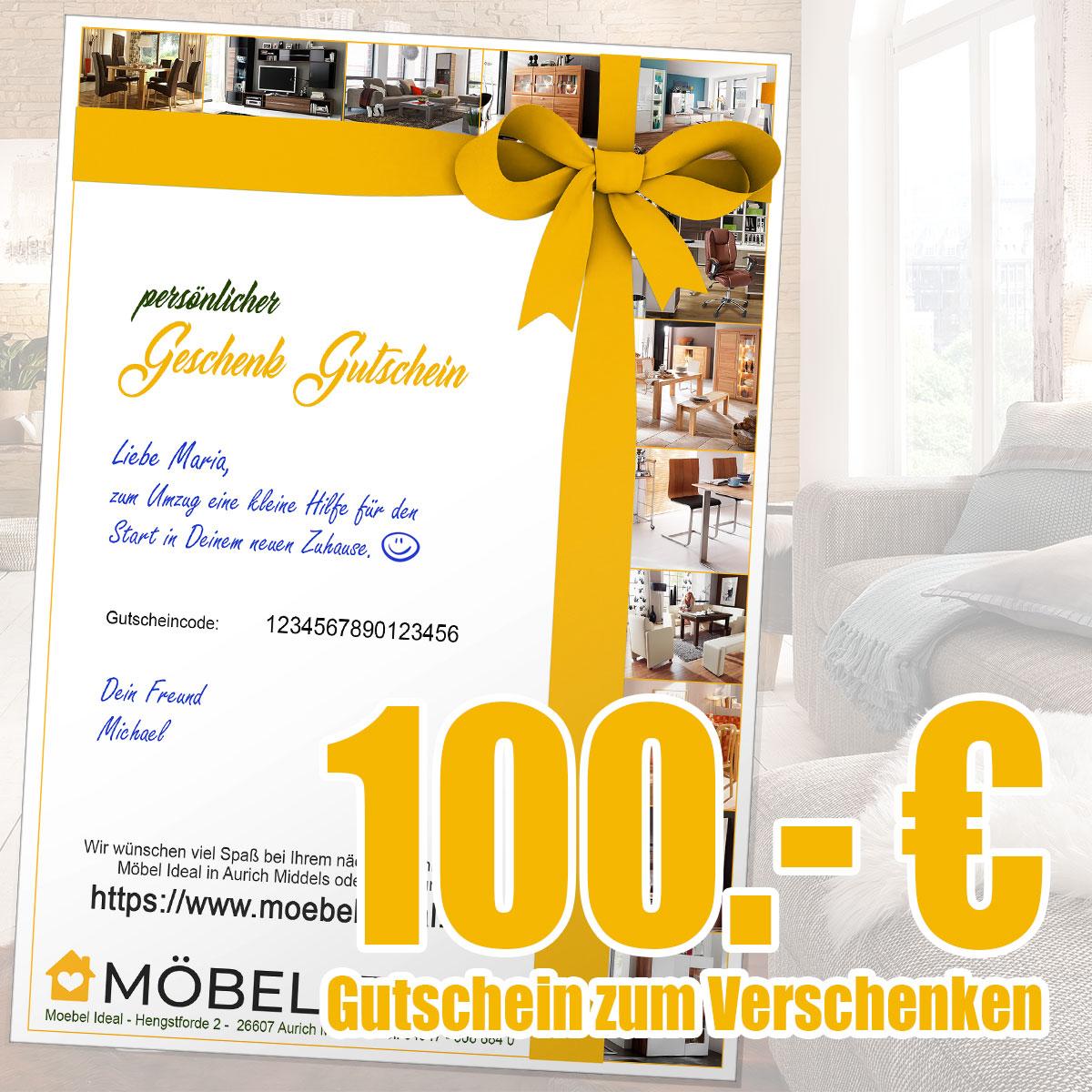 Gutschein 100.- Euro per Email (PDF Datei zum Ausdrucken)