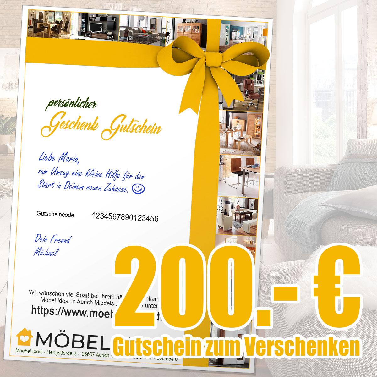 Gutschein 200.- Euro per Email (PDF Datei zum Ausdrucken)