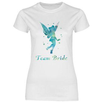 rs140 Damen T-Shirt Blaugrüne Prinzessin Team Bride