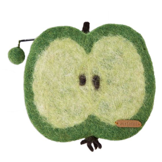 Apple felt purse