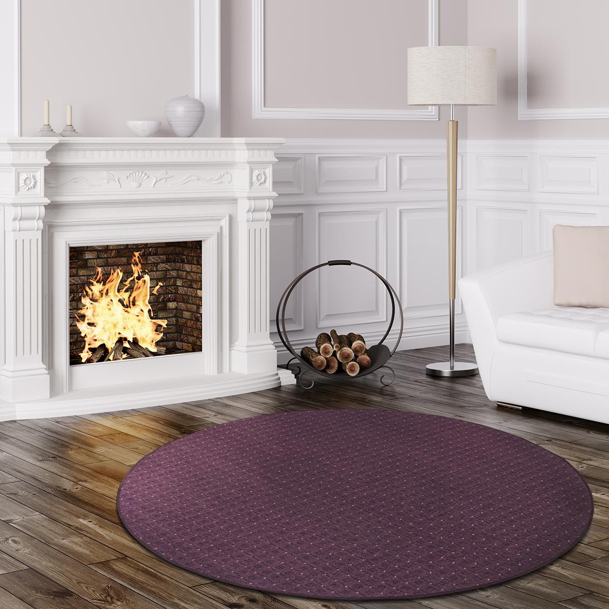 schlingen teppich cambridge rund grau gr n rot lila blau. Black Bedroom Furniture Sets. Home Design Ideas
