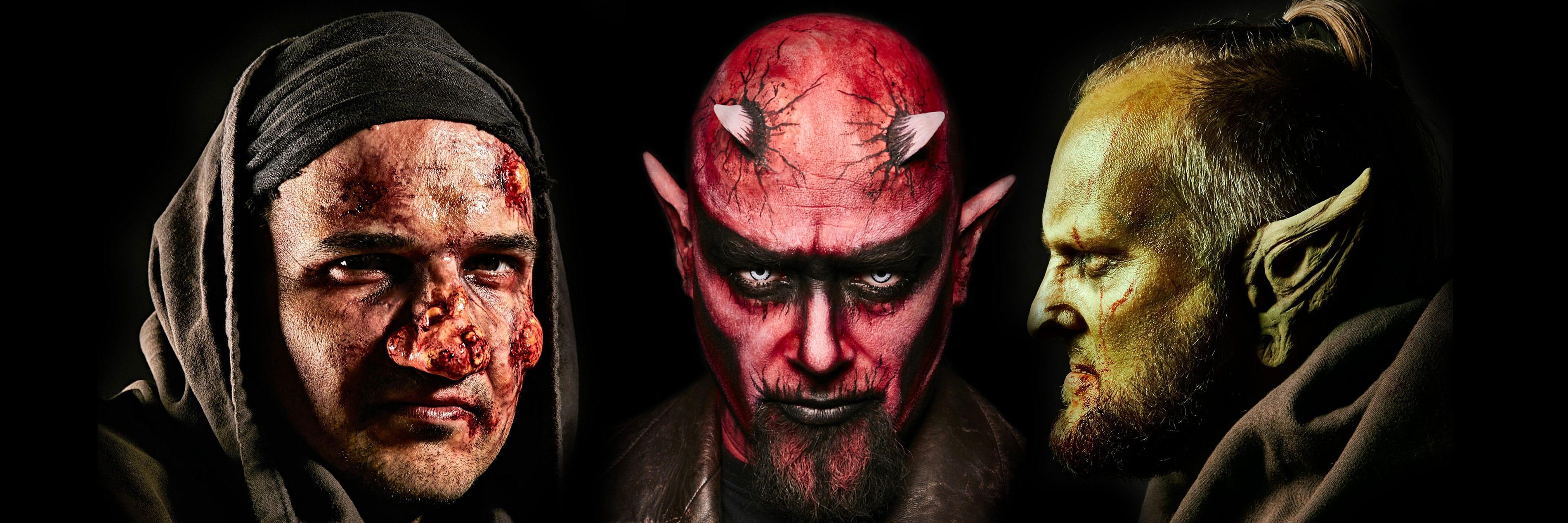 Kunstblut, Vampirzähne, Masken